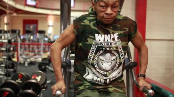 Meet Ms. Willie Murphy -- a 77-year-old lady who can lift more than you.