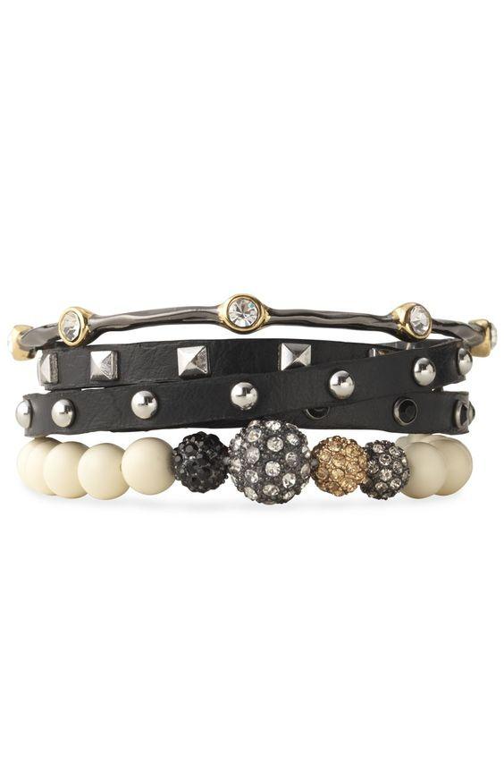 Stack it up! Bracelets by Stella & Dot. Shop: http://bit.ly/SDbracelets