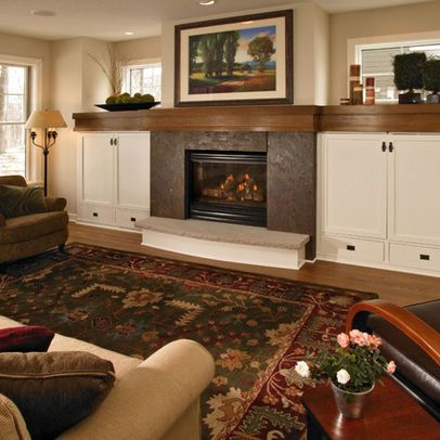 built ins around a tv and fireplace cherry with white mantle google search for the home. Black Bedroom Furniture Sets. Home Design Ideas