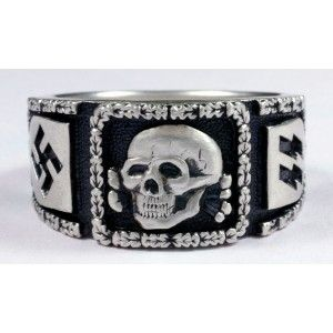 German Nazi SS Sterling silver ring German rings and