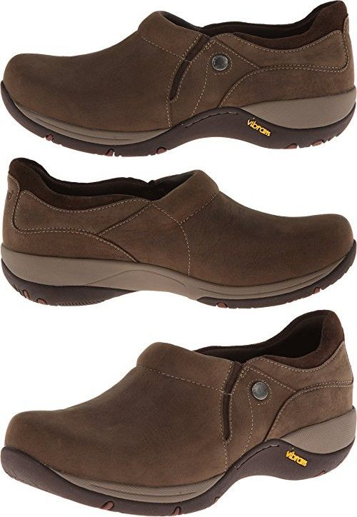 Dansko Women's Celeste Slip-On Loafer,Brown Milled Nubuck,39 EU/8.5-9 M US