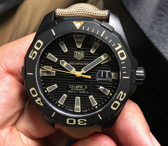 """New TAG Heuer Aquaracer Black Titanium Watches For 2016 Hands-On - by Maximilien - Get a better look at these colorful additions to the Aquaracer line now at: aBlogtoWatch.co """"Under the leadership of Jean-Claude Biver, TAG Heuer has been making some moves that are helping to reenergize the brand. Some recent highlights include the much-discussed Heuer 02T Tourbillon as well as the new TAG Heuer Connected watch and the revival of an old classic..."""""""