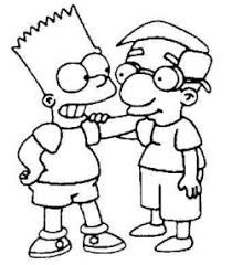 Resultado De Imagen Para Dibujos Respeto Respeto Dibujo Dibujos De Los Simpson Dibujos Para Colorear