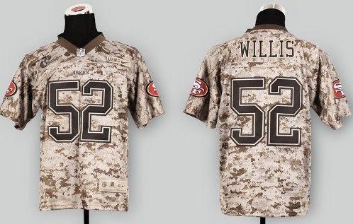 Nike San Francisco 49ers #52 Patrick Willis 2013 USMC Camo Elite Jersey