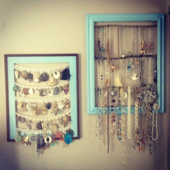 cool idea for hanging jewelry in a dorm room college d