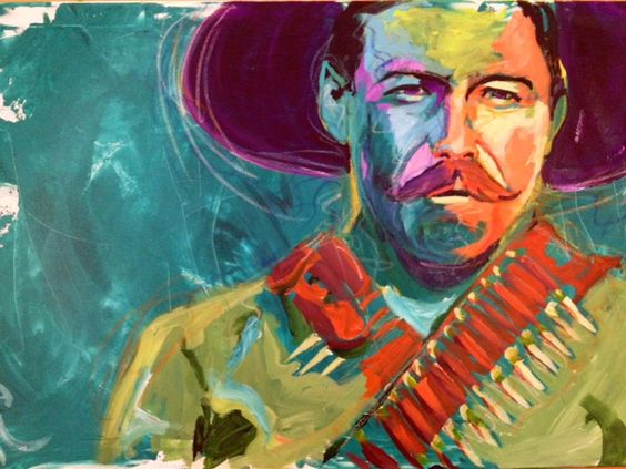 A personal favorite from my Etsy shop https://www.etsy.com/listing/279523934/pancho-villa-portrait-giclee-canvas