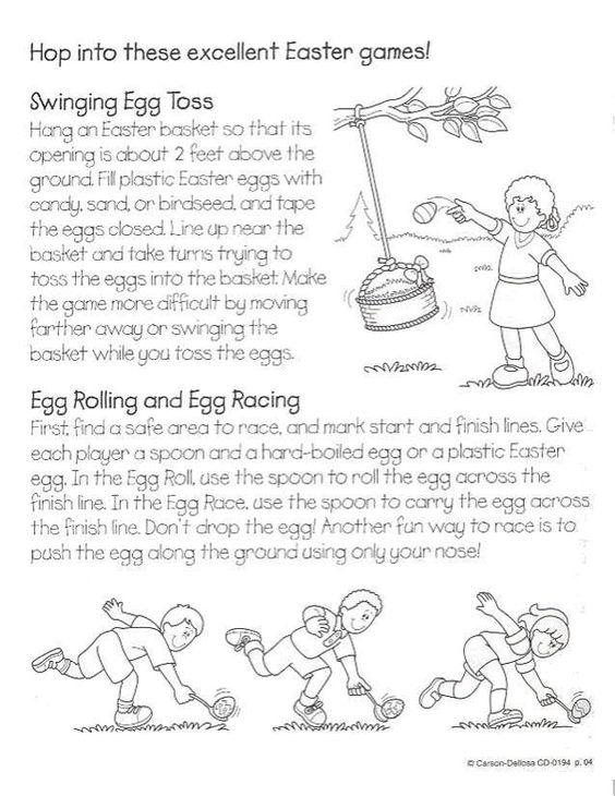 EGg Roll Easter Games Pinterest Activities Egg