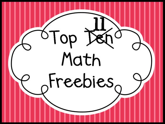 Queen of the First Grade Jungle: Top Ten Math Freebies--great games/centers
