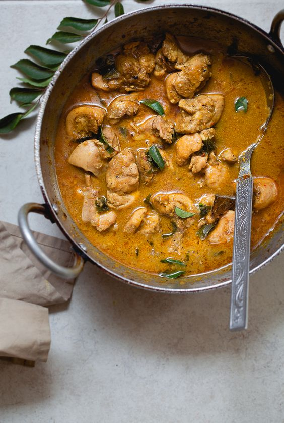 Coconut Milk Chicken Curry - Spicy   Food   Mostly Vegetarian ...