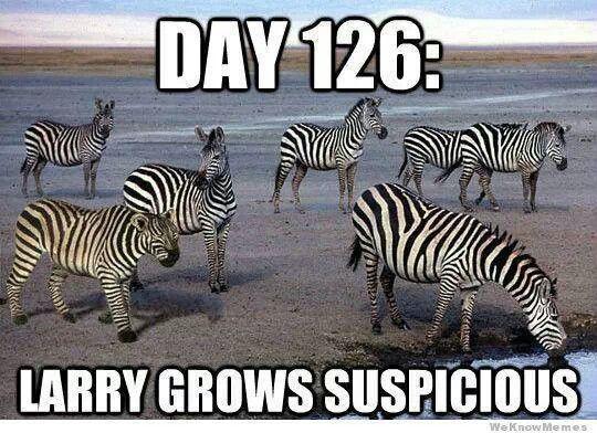 Larry grows suspicious.