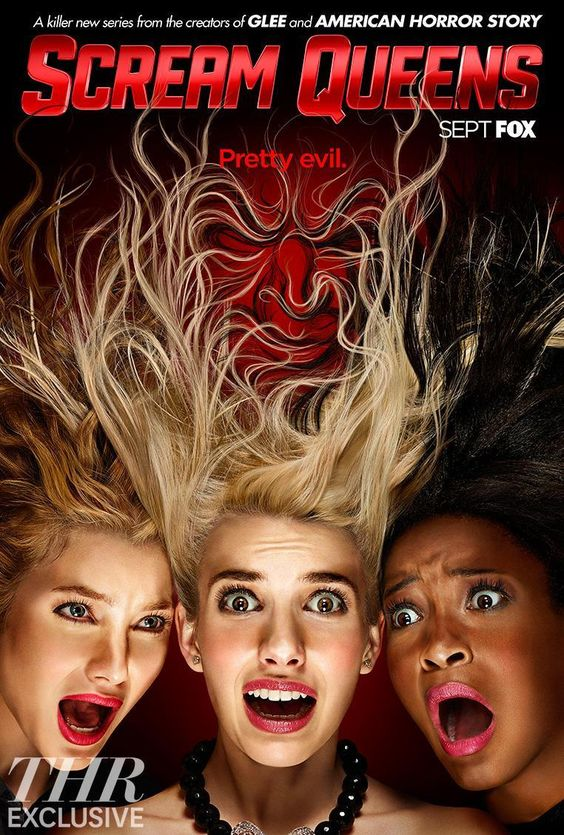 New Scream Queens poster https://blogbypaul.wordpress.com/2015/09/24/queens-worth-screaming-about/