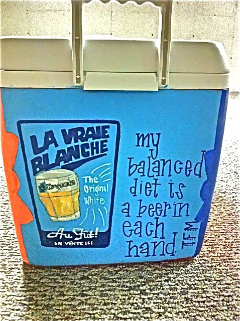 Choosing the perfect TFM to put on his cooler was more ...