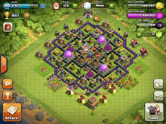 clash of clans base of town hall level 6