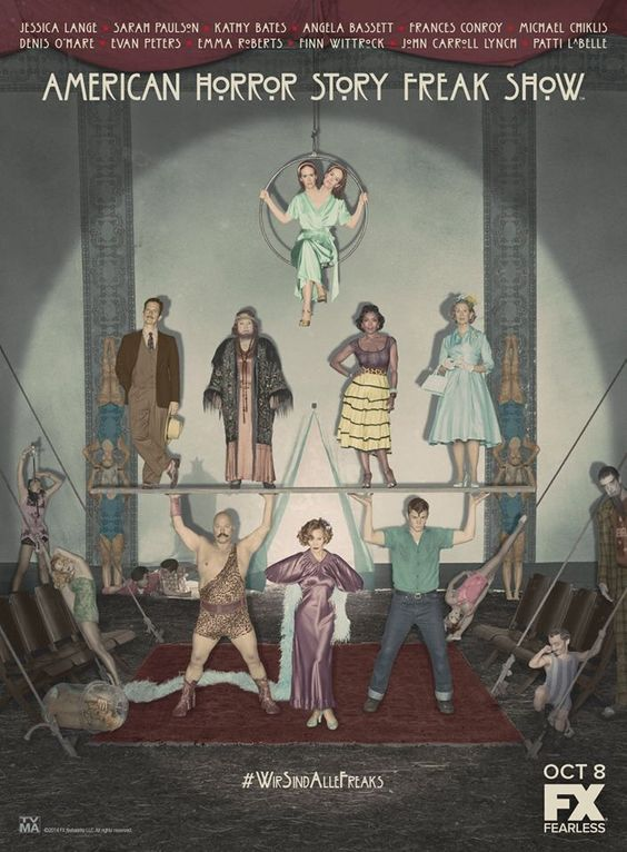 American Horror Story Freak Show! OMG IM FREAKING OUT RIGHT NOW!! Haha get it Freaking