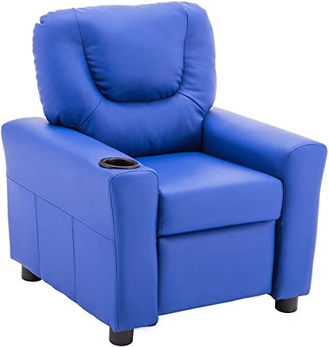 The Mcombo Kids Recliner Chair Armrest Sofa Couch Cup Holder Toddlers Boys Girls Faux Leather 7240 Dark Blue Online Shopping The108ideashits In 2020 Toddler Recliner Chair Kids Recliners Kids Recliner Chair