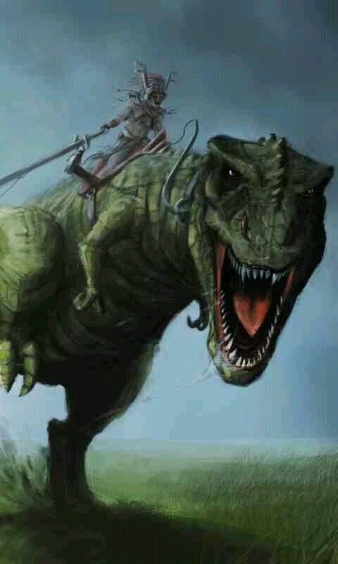 Dinosaur warrior | Fantasy | Pinterest | Dinosaurs and ...