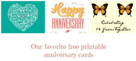 Personalize your Anniversary card for free at TopAnniversary - anniversary printable cards