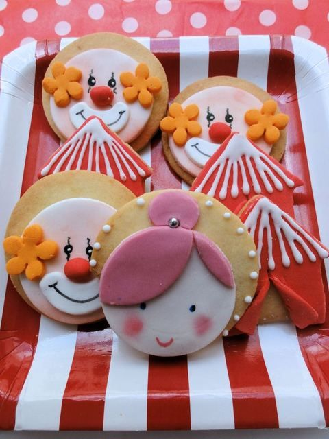 Carnival/Circus Decorated Cookies