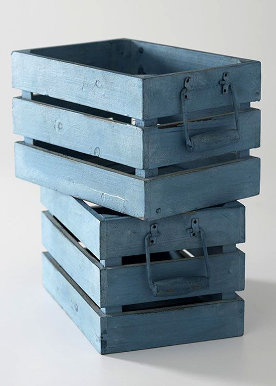 Accent colors wood boxes and crates on pinterest for Painted crate ideas