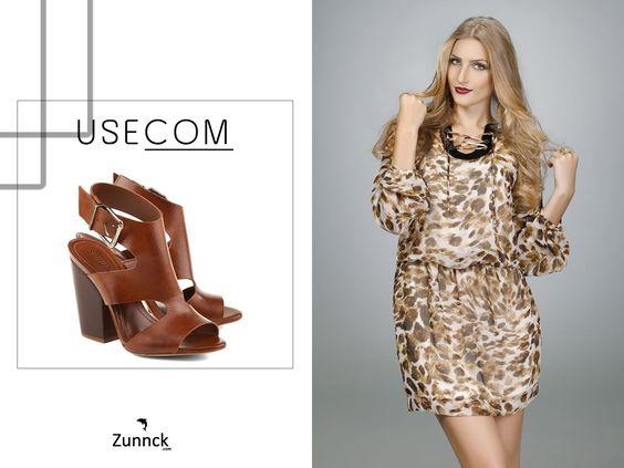Não o que usar com o Lindo Vestido Animal Print da Zunnck?! Confira nossas dicas! <3