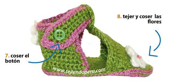 sandalias para bebes tejidas a crochet - crochet baby sandals