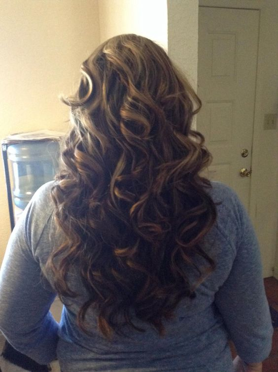Curled with gk hair wand