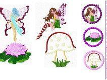 Stickdatei  ♥Beauty Nature Fairies♥ 10x10