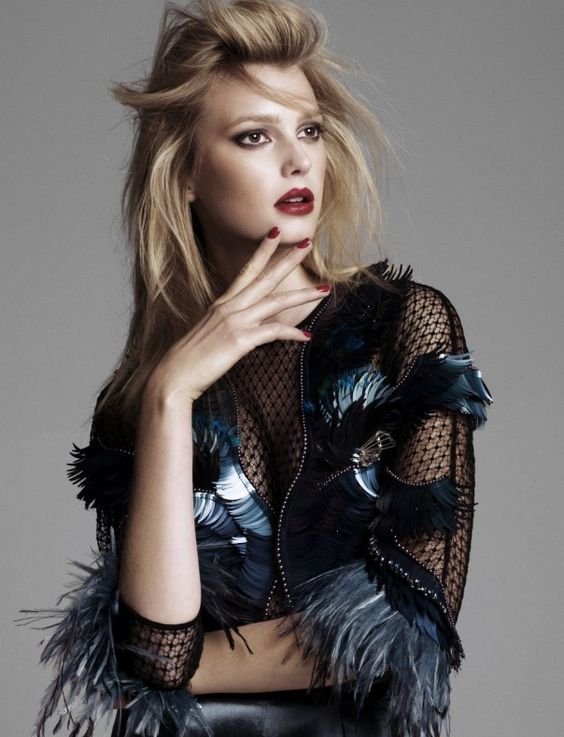 Sigrid Agren by Victor Demarchelier for L'Express Styles