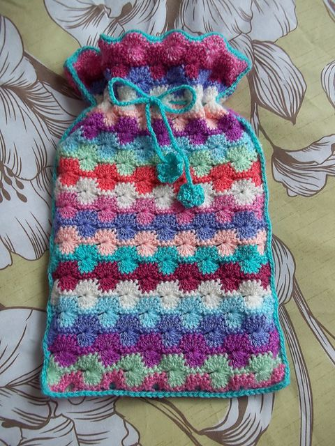 Free Crochet Pattern For Hot Water Bottle Cover : Hot water boter made by lizabet using the Catherine Wheel ...