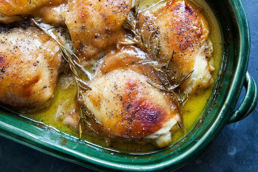 Honey Mustard Chicken via simply recipes