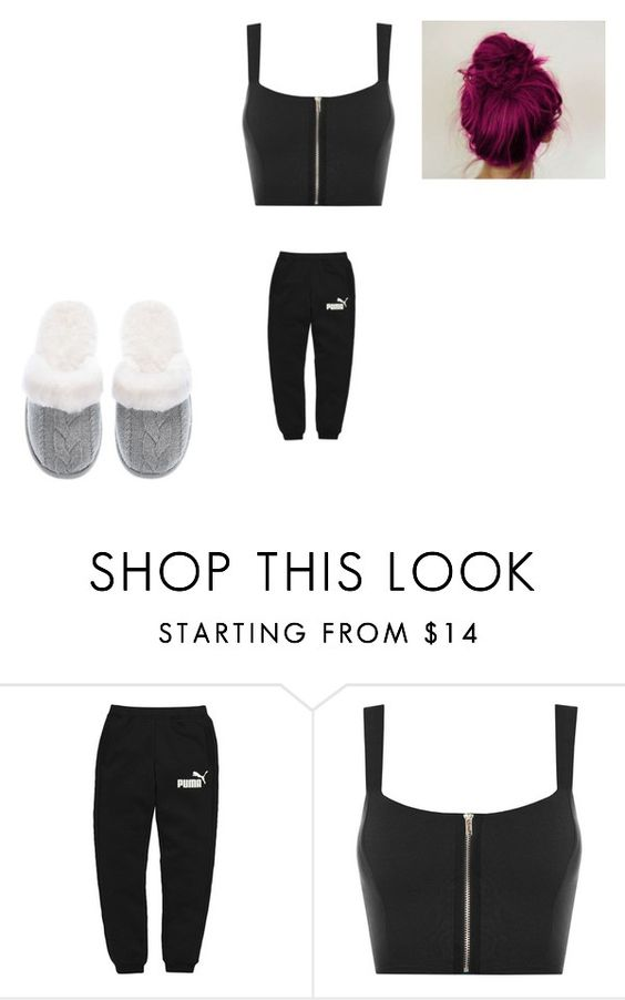 """""""the Blah Blah Day ........."""" by ronnieradkeismybae ❤ liked on Polyvore featuring Puma, WearAll and Victoria's Secret"""