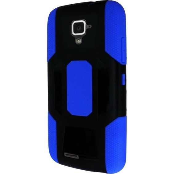Insten Dual Layer Hybrid Rubberized Hard PC/ Soft Silicone Phone Case Cover For ZTE Rapido