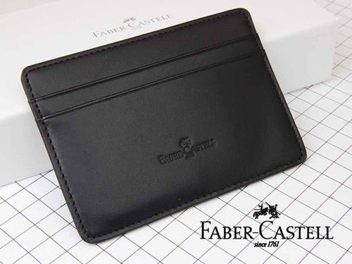 Faber-Castell [Germany] Business Credit Card Case Classic Black Leather FC188853   eBay