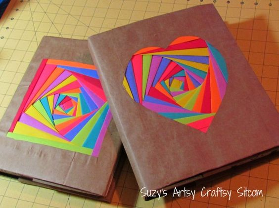 Creating colorful bookcovers with AstroBrights Paper! | Suzy's Artsy Craftsy Sitcom