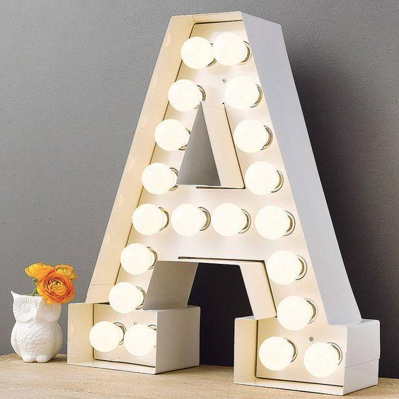 Alphabet hollywood light glam bedroom light bedroom and for Bedroom 5 letter words