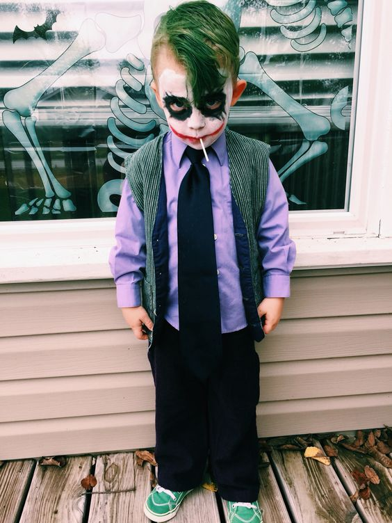 DIY Joker toddler costume: