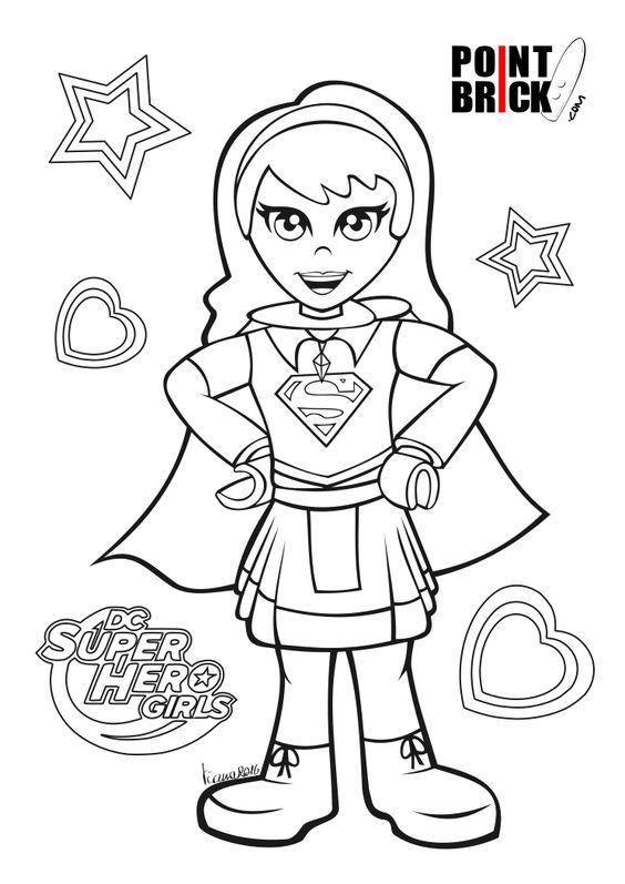 disegni da colorare lego dc comics super hero girls