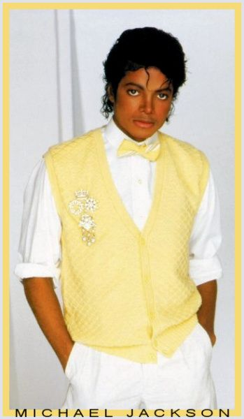 Human Nature Yellow Vest Michael Jackson Poster