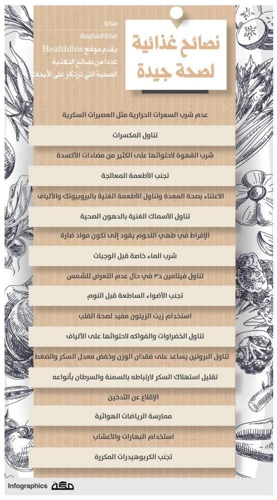 نصائح غذائية لصحة جيدة انفوجرافيك جراف صحيفة مكة Infographic Makkahnp Healthline Infographic Asos
