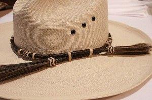 Braided Rawhide Hat Band Horse Hair