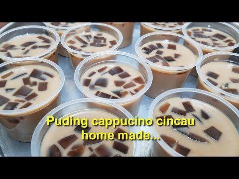 Cara Membuat Puding Cappucino Cincau Youtube Coffee Dessert Pudding Desserts Cappucino
