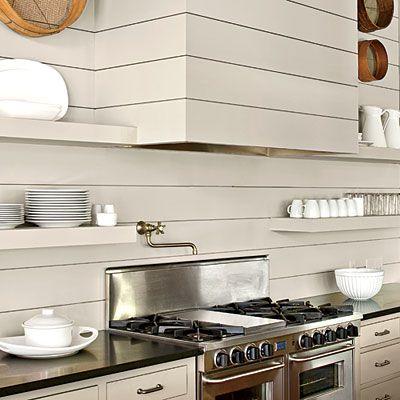 New Old Lakefront Kitchen Kitchen Details: Camouflaged Hood - New Old Lakefront Kitchen