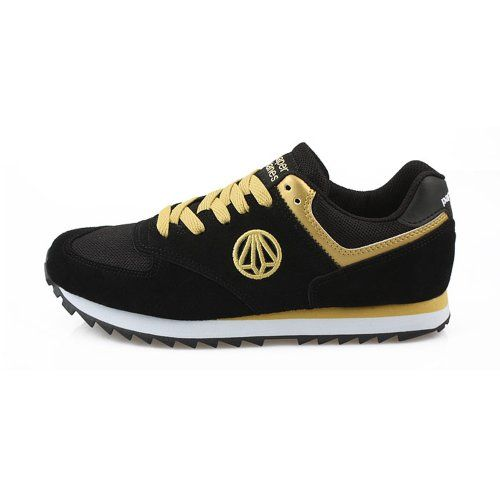 New Paperplanes Leather Womens Super Sports Athlectic Walking Shoes Black Gold (6) JustOneStyle,http://www.amazon.com/dp/B00DUN0WDE/ref=cm_sw_r_pi_dp_Drvtsb07SY90NP75