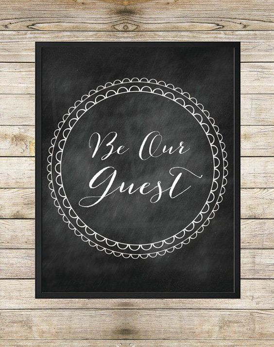 be our guest chalkboard - Google Search