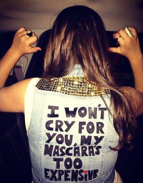 #amen: Mascara S, Fashion Style, Not Worth It, Masks, Funny Stuff, So True, Damn Straight, Won T Cry