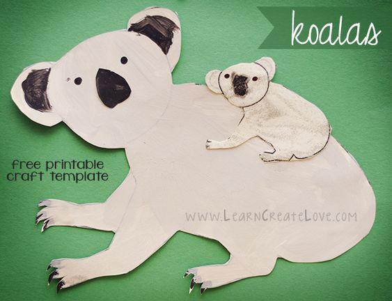 Printable Craft: Koalas | LearnCreateLove.com