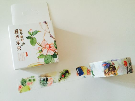 Poetry and Flowers Boxed Washi Tape by GoatGirlMH on Etsy