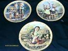 For Sale - Complete 3 Piece Set Hummel Millennium Plate Collection Auf Wiedersehen