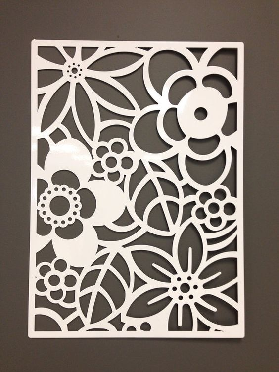 Abstract Flower Metal Wall or Garden Art Panel 24