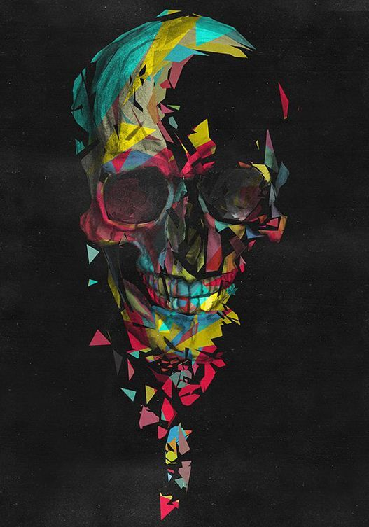 skull wallpaper 133 colorful - photo #4